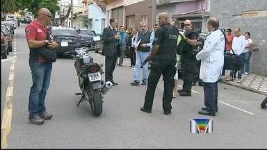 Polícia reconstitui morte de comerciante em Taubaté (SP) - O autor dos tiros confessou o crime e participou dessa etapa da investigação.