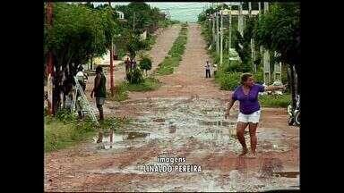 Chove em 97 cidades do Ceará nesta segunda-feira - Em Barbalha, chuva de 70 milímetros causou estragos na cidade.