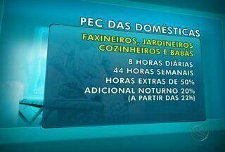 Trabalhadores domésticos de Aracaju esperam aprovação da PEC das domésticas - Classe dos empregados domésticos vão ganhar 16 novos direitos.