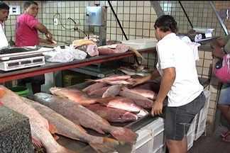 Consumidores ainda procuram pescado mais em conta no Mercado do Peixe - Consumidores acordaram cedo para tentar achar o pescado mais em conta, no Mercado do Peixe e no Portinho, em São Luís. Para a maioria o sacrifício valeu à pena.