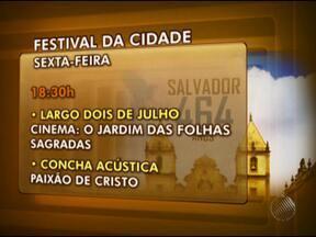 Confira programação do Festival da Cidade neste fim de semana - Programação terá música, teatro e atividades ao ar livre até domingo.