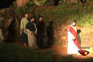 Encenação da Paixão de Cristo ocorre em vários pontos do Sul do ES - Apresentações ocorrem no distrito de Jaciguá, em Vargem Alta, e Cachoeiro de Itapemirim.