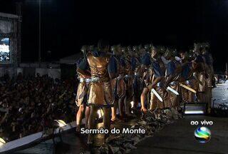 Semana Santa é celebrada com encenações teatrais, em Sergipe - Público assiste ao evento Sermão do Monte.