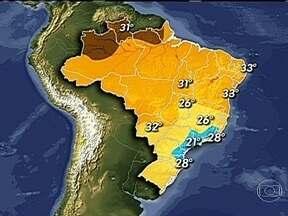 Região do Pantanal pode ter chuva nesta terça-feira (9) - A meteorologia prevê pancadas de chuva com trovoadas para as principais cidades do Pantanal. A chuva das últimas semanas, no Nordeste, ajudou a recuperar um pouco o nível dos reservatórios.