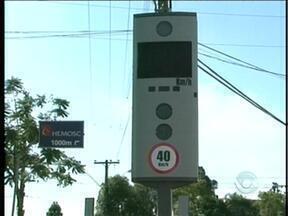 Trânsito 24h: radares e lombadas eletrônicas iniciarão funcionamento em Chapecó - Trânsito 24h: radares e lombadas eletrônicas iniciarão funcionamento em Chapecó