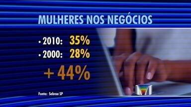 Cresce o número de empresas abertas por mulheres no Vale, diz Sebrae - Pesquisa do Sebrae, em 2010, 35% dos negócios abertos no estado de São Paulo, eram de mulheres. A participação feminina no empreendedorismo cresceu 44% em dez anos.