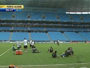 Último treino do Grêmio antes de enfrentar o Fluminense é fechado para a imprensa - Partida é encarada como uma final.