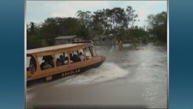 Amazonas começa a sentir efeitos da cheia dos rios - O Amazonas iniciou os trabalhos de preparação para a cheia dos rios deste ano.