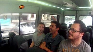 Gregório, Mazzeo e Danton relembram seus momentos especiais na TV - Huck se diverte com as lembranças dos atores