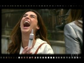 Fernanda Paes Leme 'elimina' Livia Marini nos bastidores de 'Salve' - Confira os bastidores das gravações