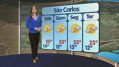Confira a previsão do tempo para São Carlos e região nesta sexta-feira (19) - Confira a previsão do tempo para São Carlos e região nesta sexta-feira (19).