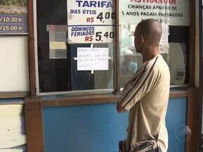 Travessia Salvador-Mar Grande é suspensa por causa dos ventos fortes - A opção para quem precisa fazer a travessia é o sistema ferry boat.
