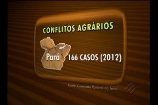 Pará está em posição preocupante com relação ao nº de mortes por conflitos agrários - Pará está em posição preocupante com relação ao número de mortes relacionadas a conflitos agrários.