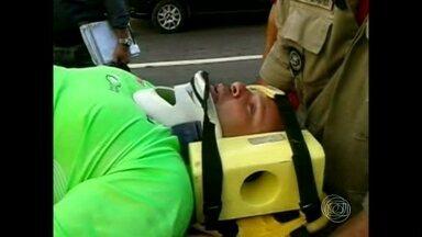 Atropelado, Alberto da Silveira está internado e deve ser operado - Ele conta o que aconteceu na hora do acidente