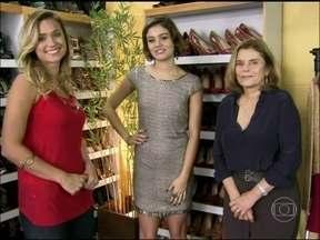 Sophie Charlotte abre o armário de sapatos de Amora para Jaqueline Silva - A atriz mostra o vício da sua personagem 'it girl' em Sangue Bom