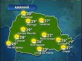 Ainda faz calor nesta sexta-feira em Curitiba - A máxima fica em 26 graus e vai fazer sol.