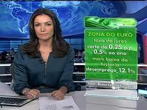 Banco Central Europeu reduz os juros básicos de 17 países - A taxa de 0,5% ao ano é a mais baixa da história da união monetária. A crise que assola o bloco levou o desemprego a bater recorde. Com a redução dos juros, o Banco Central Europeu pretende estimular a economia.