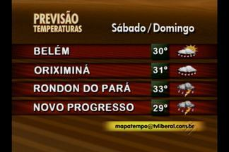 Previsão do tempo - Veja a previsão do tempo em todo o estado.