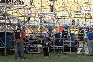 Confira bastidores para o show de Paul McCartney em Goiânia - Ex-Beatle se apresenta no Estádio Serra Dourada no dia 6 de maio. Apresentação do cantor tem 90% dos 45 mil ingressos vendidos.