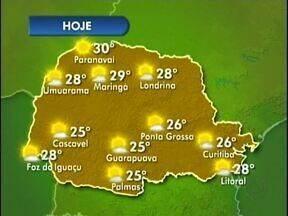 Sol brilha forte neste sábado em Foz - Máximas serão de 28 graus na fronteira e 25 em Palmas