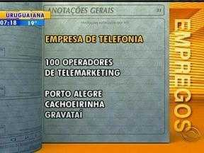 Confira oportunidades de emprego para Porto Alegre - Bom Dia divulga empregos e oportunidades.