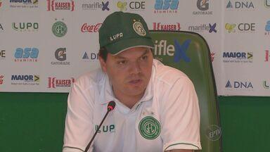 Com novas contratações, Guarani busca entrosamento para o Campeonato Brasileiro - Com o início do Campeonato Brasileiro da série C, o treinador do Guarani Tarcísio Pugliese busca o entrosamento do elenco, que já conta com 19 novas contratações.