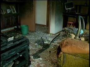 Polícia investiga ataque contra casa no município de Joinville - Polícia investiga ataque contra casa no município de Joinville.