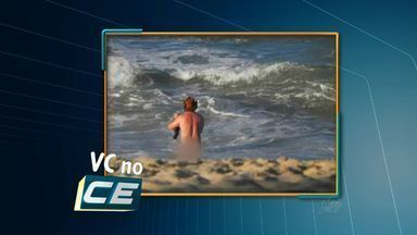 Turistas tomam banho pelados em praia de Fortaleza - Um deles foi detido.