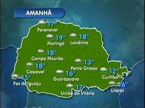 Chuva derruba árvores em Maringá - E a previsão é de mais chuva para essa quarta-feira