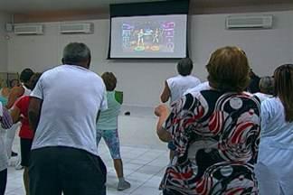 Jogos virtuais como terapia na Paraíba - Jogos eletrônicos estão contribuindo para a prática de exercícios físicos entre idosos.
