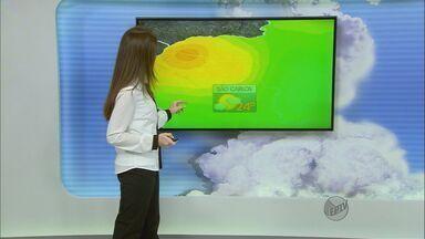 Confira a previsão do tempo para a região de São Carlos neste sábado (8) - Confira a previsão do tempo para a região de São Carlos neste sábado (8).