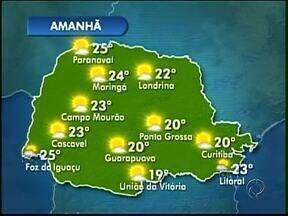 Domingo será ensolarado no Paraná - Tempo muda a partir de segunda-feira