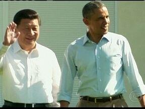 Obama e Xi Jinping se encontram nos EUA - Os crimes cibernéticos e meio ambiente dominaram o encontros entre os presidentes das duas maiores economias do mundo. O presidente dos Estados Unidos, Barack Obama e o presidente da China, Xi Jinping se encontraram no país americano.