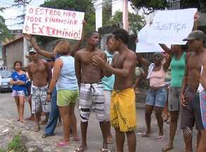 Moradores do Nordeste de Amaralina protestam contra morte de um homem no local - A vítima morreu em uma troca de tiros entre suspeitos de tráfico de drogas e policiais militares.