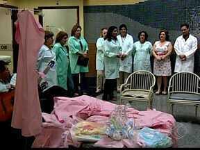 Mães e gestantes internadas recebem doações em Uberaba - Camisolas foram doadas nesta quarta-feira (12) ao HC-UFTM. Peças são para pacientes na área de ginecologia e obstetrícia.