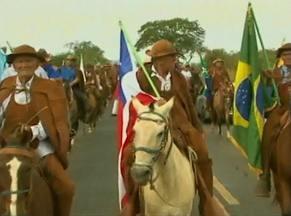 Vaqueiros do município de Lagoa Real se reúnem para encontro de sertanejos - Em 2012, a seca impediu a realização da festa do vaqueiro.