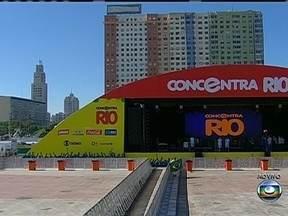 Ainda há ingressos para o Concentra Rio - São distribuídos dois ingressos por pessoa. A entrada é gratuita. O espaço, que fica perto do metrô da Praça XI, abre às 14h desta quarta (19). A festa tem samba, pagode e funk.