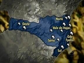 Manifestações de quinta-feira ocorrem em 13 cidades catarinenses - Manifestações de quinta-feira ocorrem em 13 cidades catarinenses