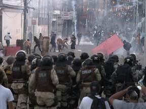 O conflito mais grave dos protestos em Salvador ocorreu na Av. Joana Angélica - Foram mais de cinco horas de intensos confrontos.