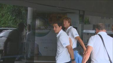 Seleção do Uruguai chega de volta ao Recife para enfrentar Taiti - Jogadores estão hospedados no hotel que a seleção japonesa acaba de deixar.