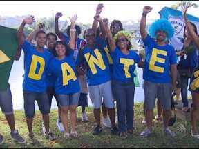 Família do baiano Dante marca presença no jogo da Seleção Brasileira - Partida entre Brasil e Itália era uma das mais esperadas da primeira fase da Copa das Confederações.