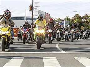 Motociclistas de Sorocaba, SP, percorreram as ruas da cidade para pedir mais segurança - Em Sorocaba (SP), o protesto deste sábado (22) foi sobre duas rodas. Integrantes de vários motoclubes percorreram as ruas da cidade para pedir mais segurança.