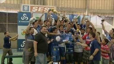 Copa TV Amazonas de Futsal chega ao fim e consagra Salcomp e Sociedade E.C. - Jogos realizados neste sábado (22) escolheram campeões masculino e feminino.