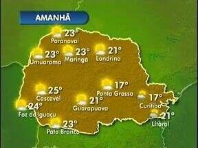 Quarta-feira será ensolarada em Foz e região - Máxima será de 24 graus na fronteira
