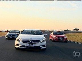 Marcas de luxo equipam modelos de entrada para ganhar novo público - Audi A3, Mercedes-Benz Classe A e Volvo V40 trazem tecnologias inéditas que desbancam os carros de topo.