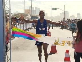 Giomar Pereira e Léa Jeorique vencem Meia-Maratona da Bahia em Salvador - Eles venceram a categoria principal da terceira meia-maratona, que foi realizada no domingo.