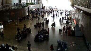 Cerca de cinco mil cearenses viajam para a JMJ, no Rio de Janeiro - Aeroporto tem grande movimentação nessa segunda-feira.