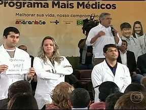 Médicos fazem protestos contra novo programa do governo - Em Belém do Pará, o ministro da Saúde, Alexandre Padilha, estava explicando como seria feito o programa Mais Médicos, quando foi interrompido por estudantes entidades da classe. Mais tarde, em São Luís, o protesto se repetiu.