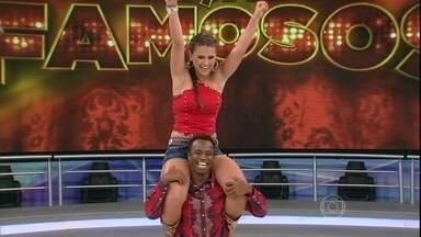 No sertanejo, Edílson e Lidiane Rodrigues dançam 'Mexe que é bom' - Confira o desempenho da dupla que tenta voltar da repescagem do 'Dança'