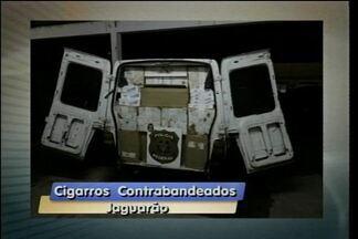 43 mil maços de cigarros contrabandeados são apreendidos em Jaguarão - Duas pessoas são presas.